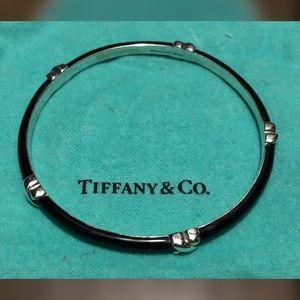 Tiffany & Co Signature KISS 925 Black Bangle